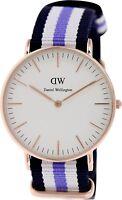 Daniel Wellington Women's Trinity 0509DW Blue Nylon Quartz Watch