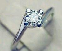 Sconto 50 % Anello Solitario oro bianco 18 kt e diamante naturale PURO - IF - F