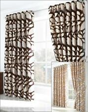 1 PAIR (2) FULLY LINED EYELET RING TOP CURTAINS ~ Many Designs, Colours & Sizes