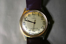 TIMEX QUARTZ Vintage Mens Gold Plated Wrist Watch, non running.