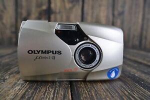 MINT Olympus Mju II Lens 35mm f2.8 All weather Camera Color Champagne