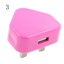 Plug Mains Wall 3 Pin USB Power Adaptor Charger For Mobile Cell Phone Tablet hcu