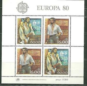 PORTUGAL 1416A MNH SOUVENIR SHEET EXPLORERS SCV 6.50