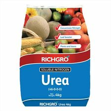 Urea Soluble Nitrogen Fertiliser 4kg RICHGRO Plant Garden Lawn Foliage