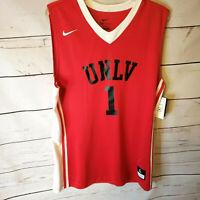 Nike Team Dri-Fit  Red Sleeveless Jersey Men Large Basketball Shirt