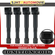 4x Ignition Coils fit Honda Accord CRV Integra Odyssey 2002-2008 4Cyl 2.0L 2.4L
