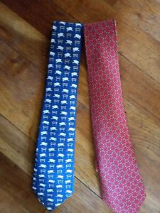 2 VINTAGE HERMES SILK TIES LOVELY CONDITION
