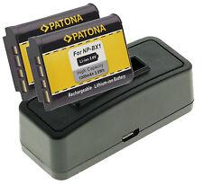 USB Ladegerät + 2x Battery Akku NP-BX1 1000mAh f. Hasselblad Stellar  Stellar II