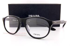 Brand New Prada Eyeglass Frames PR 12SV 1AB Black For Men Size 54