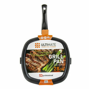 Ultimate Grill Pan Carbon Steel Non Stick Gas Induction,Halogen,Ceramic Hob