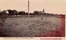 Kingfisher Oklahoma~Kingfisher College~Dirt Road~Field~Campus Buildings~1912 pc
