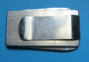 Vintage Money Clip With Pocket Knife & Nail File ~ Japan Stainless Steel
