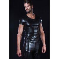 Patrice Catanzaro - Matis - Tee shirt sexy homme wetlook laqué aspect cuir