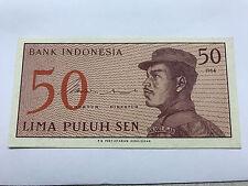 1964 Indonesia 50 LIMA PULUH SEN GEM Crisp Unc. #4919