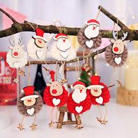 Eg _ 3 Pezzi Alce Babbo Natale Pupazzo di Neve Feltro Corda Bambola Albero