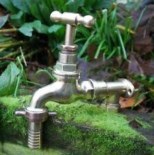 X Large Old Brass Garden Tap Reclaimed & Fully Refurbished Large Garden Tap