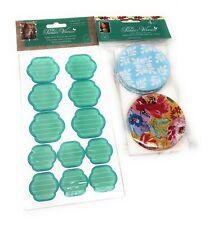 Pioneer Woman Mason Jar Lids 4 Pk w/Labels Bundle Betsy Blue & Rose Floral READ