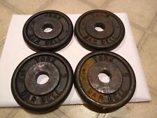 """2 1/2 lb YORK Barbell 1"""" Standard Weight Plates LOT of 4 Total 10lbs Vintage"""