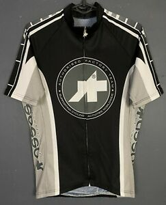 MEN'S SHIRT ASSOS SWITZERLAND CYCLISMO CYCLING BICYCLE JERSEY MAILLOT SIZE L 4