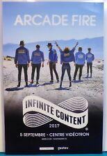 ARCADE FIRE Infinite Content 2017 CONCERT TOUR Quebec City Canada french POSTER