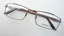 Stainless Steel Brillengestell braun Herrenrahmen leichte Metallfassung Grösse M