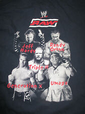 WWE RAW (MED) T-Shirt JEFF HARDY RANDY ORTON TRIPLE H GENERATION X UMAGA