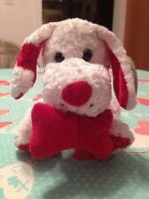 Toy Town Collection Red & White Stuffed Valentine's Day Dog Pooch With Bone New