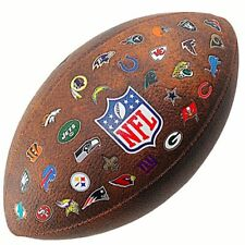 Wilson American Football NFL 32 Team Logo Synthetic Leather Ball