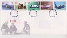 UNADDRESSED GB ROYAL MAIL FDC COVER 1998 LAND SPEED RECORDS STAMP SET TRURO PMK