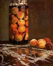 Metal Sign Monet Claude Jar Of Peaches A4 12x8 Aluminium