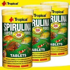 Tropical 3 x 250 ML Spirulina Super Forte Tablets For Plant Eating Fish