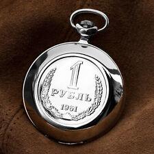 Molnija 3602 Pocket Watch 1 Rubles USSR Motif Russian Analog Watch