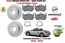 FOR PORSCHE BOXSTER 2.7 3.4 2012-> REAR BRAKE DRILLED DISCS SET + DISC PAD KIT