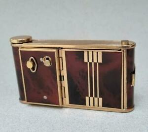 STUNNING UNUSED 1950'S MUSICAL CAMERA COMPACT IN ART DECO STYLE