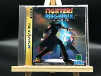 Fighters Megamix w/spine (Sega Saturn, 1997) from japan