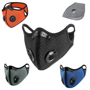 Cycling Protective Mouth-muffle Face Shield Haze Fog Mouth Cover With Filter@