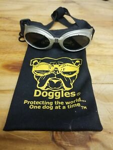 Dog Doggles Eyewear Size Medium Bronze / Tan Frame with Smoke Lens