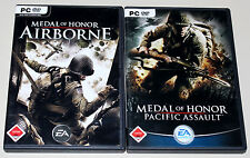 2 PC juegos set-Medal of Honor-Airborne & Pacific Assault
