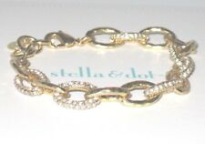 Stella & Dot Christina Link Gold Bracelet! Pre-loved; missing a couple crystals