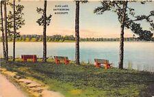Mississippi postcard Hattiesburg, Elks Lake ca 1943