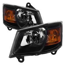 Fit Dodge 08-10 Grand Caravan Black Housing Replacement Headlights C/V SE SXT