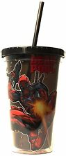 DEADPOOL Bullets, Marvel Comics Travel Cold Cup with Straw, 16 oz.