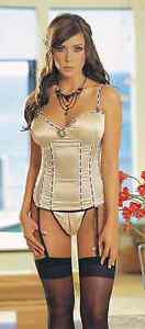 Dreamgirl Retro Cameo Polka Dot Faux Vintage Bustier & Matching Crotchless Thong