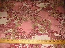 """Pink/White/Burgundy Floral Paisley Medallion 100% Poly Chiffon Fabric 58"""" W Bty"""