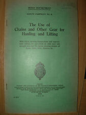 MINES DEPARTMENT COLLIERY PIT SAFETY PAMPHLET No 6 1930