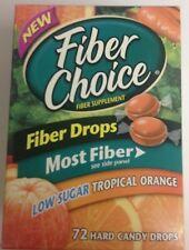 NEW Fiber Choice Hard Candy Drops, Tropical Orange Flavor, 72 Drops RARE
