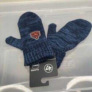 Chicago Bears 47 Brand Women's Winter Mittens. New NWT Blue Gloves. NFL Football