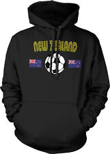 New Zealand National Soccer Team White and Black  Hoodie Pullover