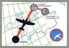 1937 ČSA Československé Státní Aerolinie Flight PRAHA-LIBEREC-JABLONEC Postcard
