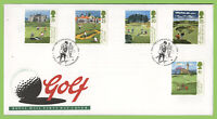 G.B. 1994 Golf set on Royal Mail First Day Cover, Gleneagles Hotel